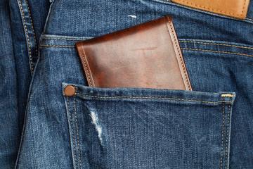Jean con billetera en el bolsillo