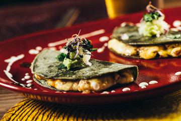 Tasty mexican quesadillas