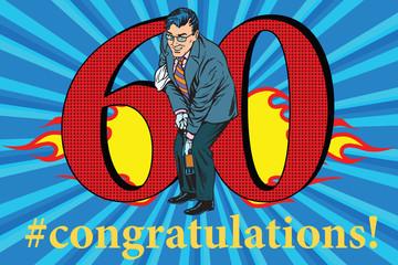 Congratulations 60 anniversary event celebration