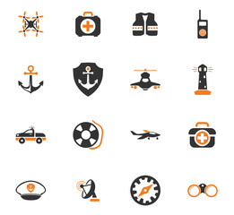 Coast Guard icons set