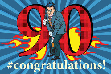 Congratulations 90 anniversary event celebration