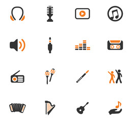 Disco Or Club icons set