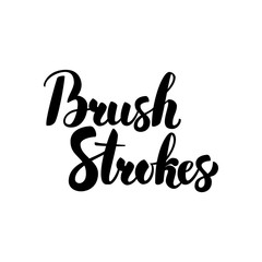 Brush Strokes Handwritten Calligraphy