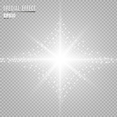 Light flare special effect. Illustration.