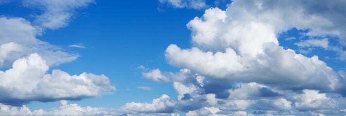 Beautiful panorama of sky over horizon.