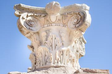 Ruins of Ostia antica, Italy. Capital of a column