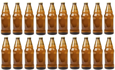 isolated bottle of beer