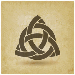 triquetra in circle old background