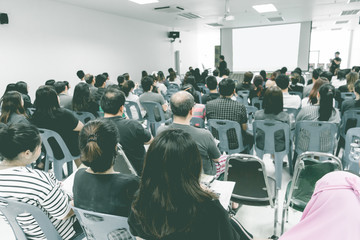 Business concept : asia people listen in business seminar presen