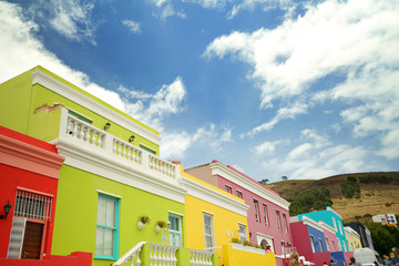 Colourful houses of Bo-Kaap neighborhood
