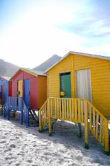 Beach huts at Muizenberg, South Africa