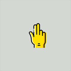 fingers icon flat design