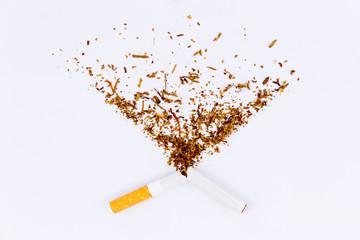 Close-up of a broken cigarette