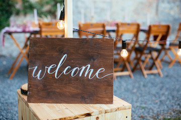 Wedding and party place decoration
