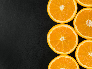 Fresh Ripe Natural Healthy Oranges