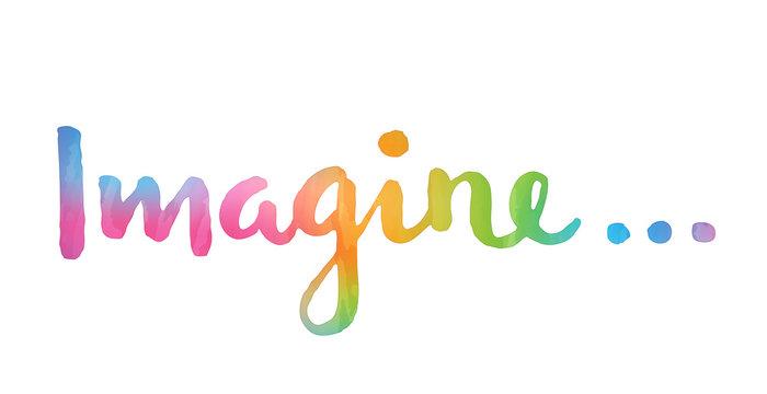 IMAGINE hand lettering poster
