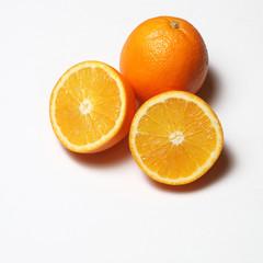 orange on a white