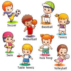 Vector illustration of Cartoon Sport character