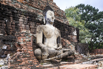 Sitting Buddha in Sukhothai, UNESCO World Heritage Site, Thailand, Southeast Asia, Asia