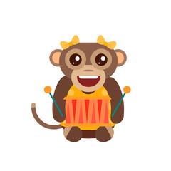 Monkey animal fun character vector illustration.