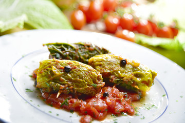 Cabbage rolls in tomato sauce