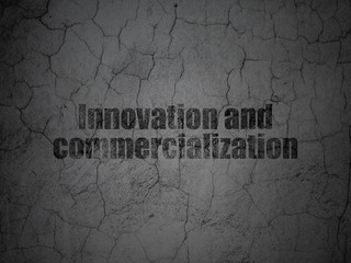 Science concept: Innovation And Commercialization on grunge wall background