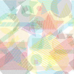 Vector abstract wallpaper seamless pattern with geometric shapes.
