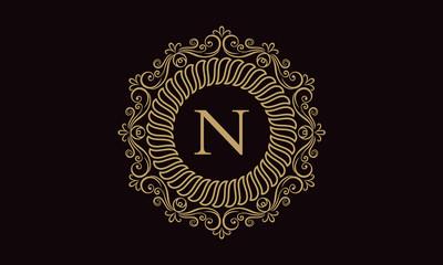 N Letter Crest Logo
