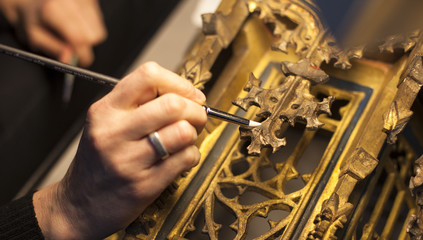 Obraz The restoration of the frescoes - fototapety do salonu