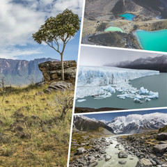 Collage of Most Beautiful and Breathtaking Places in South Ameri