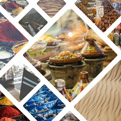 Collage of typical places in Morocco - my photos