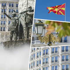 Collage of Most Beautiful and Breathtaking Places in Skopje - Ma
