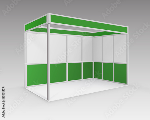 Exhibition Booth Vector Free Download : Quot vector white green blank indoor trade exhibition booth