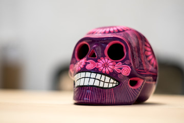 Mexican skull craft from dia de los muertos, mexican tradition