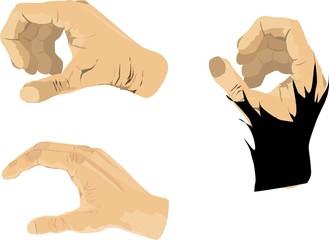 Human hands vector set