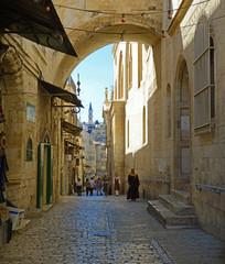 Street Via Dolarosa. Jerusalem. Israel