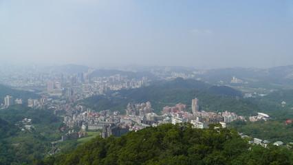 View Through Windows Of Ropeway Cabin Taipei