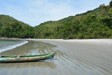 Praia da Justa em Ubatuba, SP, Brasil