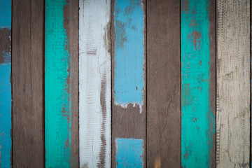 colorful of old wood surface, wood floor as background texture.