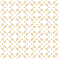 Vector seamless pattern with lines and dots. Modern decorative design template. Creative abstract background in golden color