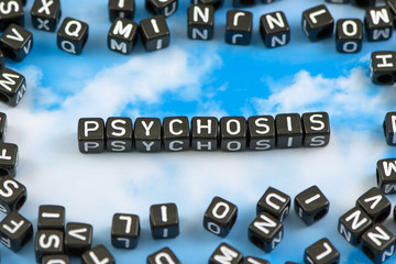 The word Psychosis on the sky background
