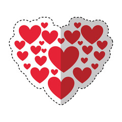 heart love card valentines day vector illustration design