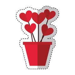 heart love card valentines day vector illustration design