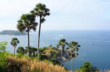 viewpoint over promthep cape, phuket island, thailand