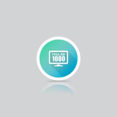 Modern Round Full HD 1080p Icon