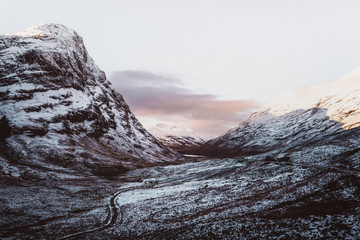 Scenic view of Scottish landscapes during winter