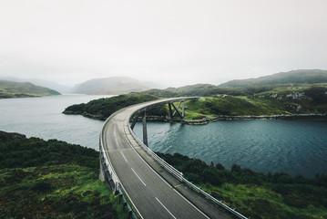 View of empty bridge over lake