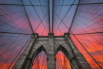 Photo sur Aluminium Brooklyn Bridge Brooklyn bridge in NYC, USA