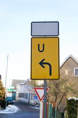 Umleitung / Umleitungsschild an einer Strasse