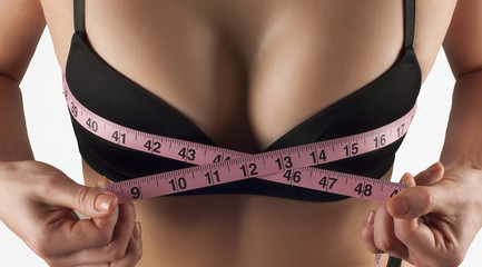 Body care beautiful breast, fitness and diet concept